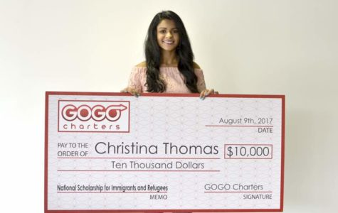 Alumna Christina Thomas Earns Presitigious Scholarship from GOGO Charters